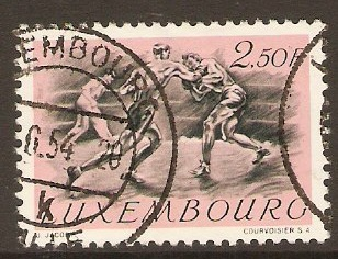 Luxembourg 1952 2f.50 Olympic Games series. SG555.