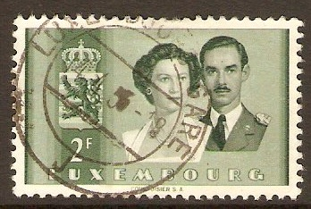 Luxembourg 1953 2f Royal Wedding series. SG565.