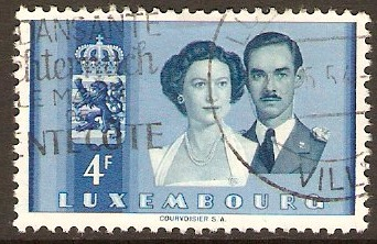 Luxembourg 1953 4f Royal Wedding series. SG567.