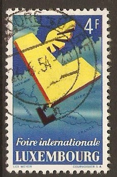 Luxembourg 1954 4f International Fair Stamp. SG579.