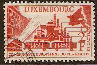 Luxembourg 1956 European Coal & Steel Stamp. SG606.