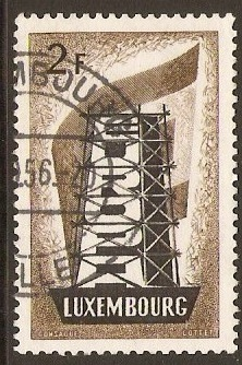Luxembourg 1956 2f Europa Stamp. SG609.