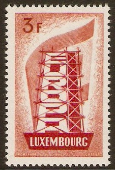 Luxembourg 1956 3f Europa Stamp. SG610.
