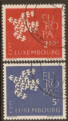 Luxembourg 1961 Europa Stamps Set. SG697-SG698.