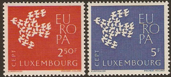 Luxembourg 1961 Europa Stamps. SG697-SG698.