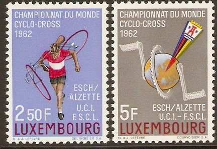 Luxembourg 1962 Cycling Championships Set. SG705-SG706.
