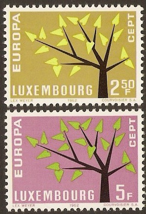 Luxembourg 1962 Europa Stamps. SG707-SG708.