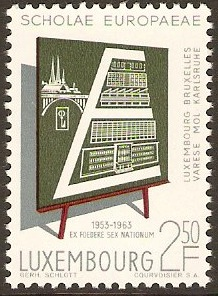 Luxembourg 1963 Schools Anniversary Stamp. SG716.