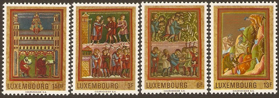 Luxembourg 1971 Medieval Paintings Set. SG868-SG871.