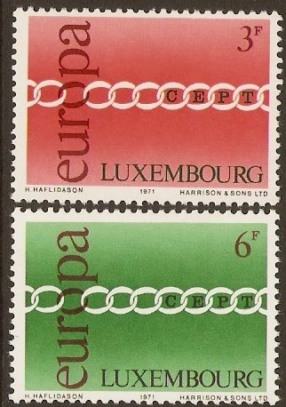 Luxembourg 1971 Europa Stamps. SG872-SG873.
