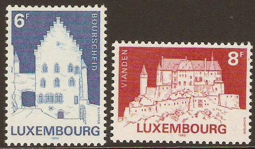 Luxembourg 1982 Monuments Set-1st. Series. SG1092-SG1093.