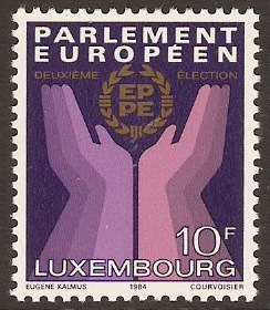 Luxembourg 1984 European Elections Stamp. SG1130.