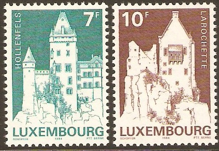 Luxembourg 1984 Monuments Set-2nd. Series. SG1142-SG1143.