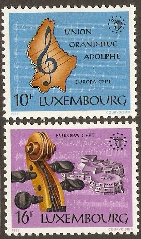 Luxembourg 1985 Europa Set. SG1158-SG1159.