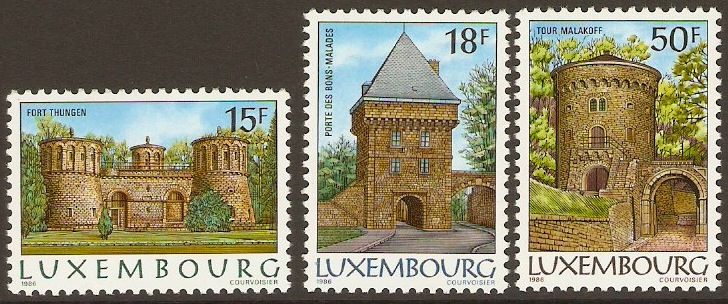 Luxembourg 1986 Fortifications Set. SG1182-SG1184.