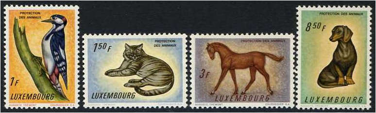 Luxembourg 1961 Animal Protection Set. SG691-SG694.