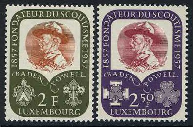 Luxembourg 1957 Baden-Powell Set. SG621-SG622.