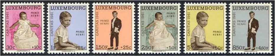 Luxembourg 1961 National Welfare Fund Set. SG699-SG704.
