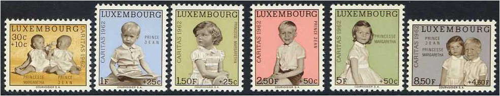 Luxembourg 1962 National Welfare Fund Set. SG710-SG715.