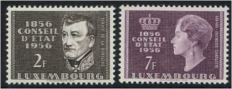 Luxembourg 1956 Council of State Set. SG613-SG614.