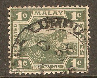 Federated Malay States 1904 1c Green - Die I. SG28.