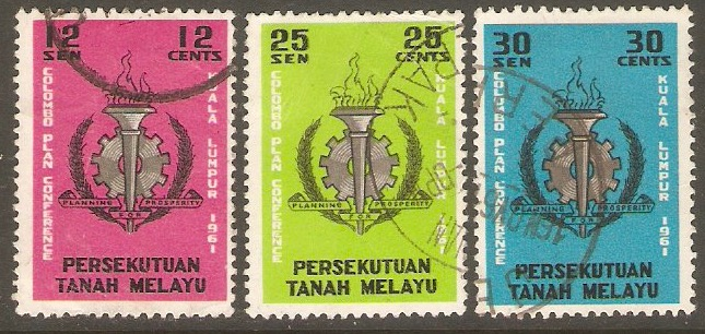 Malaysia 1968 Rubber Conference Set. SG51-SG53.