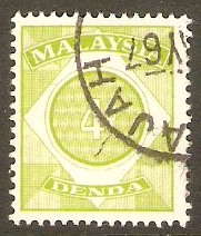 Malaysia 1966 4c Apple-green - Postage Due. SGD3.