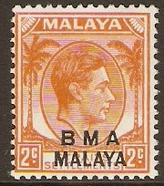 Malaya (BMA) 1945 2c Orange. SG2.