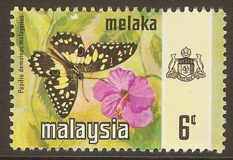 Malacca 1971 6c Butterfly series. SG73.