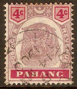 Pahang 1895 4c Dull purple and carmine. SG15.