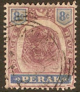 Perak 1895 8c Dull purple and ultramarine. SG71.