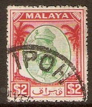 Perak 1950 $2 Green and scarlet. SG147. - Click Image to Close