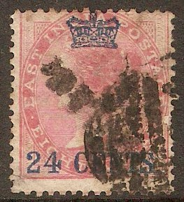 Straits Settlements 1867 24c on 8a Rose. SG8.