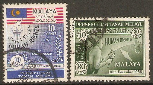 Malayan Federation 1958 Human Rights Set. SG10-SG11.