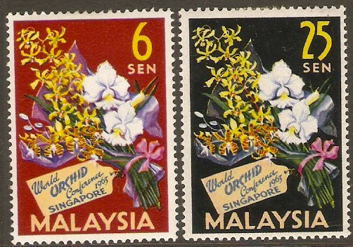 Malaysia 1963 Orchid Conference Set. SG4-SG5.