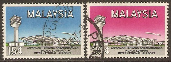 Malaysia 1965 Airport Opening Set. SG18-SG19.