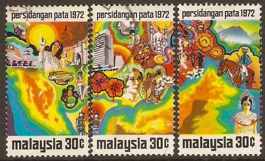 Malaysia 1971 Tourist Association Conference Set. SG95-SG97.