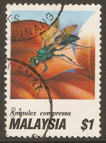 Malaysia 1991 $1 Insect series. SG460.