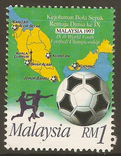 Malaysia 1997 1r Youth Football Championship series. SG651.