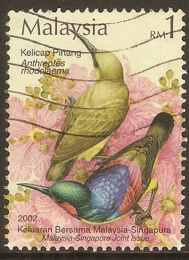 Malaysia 2002 1r Birds (Joint Issue) series. SG1082.