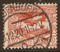 Upper Silesia 1920 10pf Red. SG22.