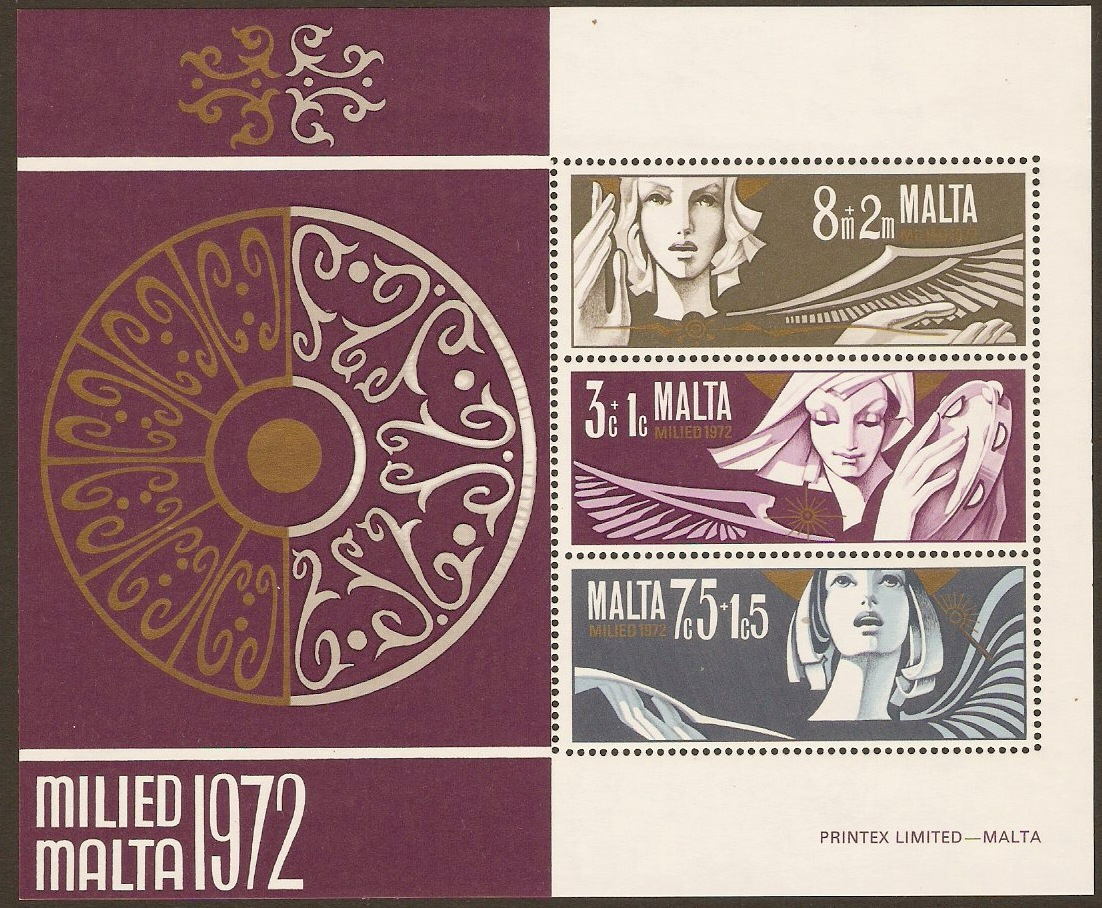 Malta 1972 Christmas Sheet. SGM485.