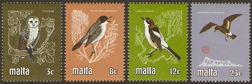 Malta 1981 Birds Set. SG655-SG658.