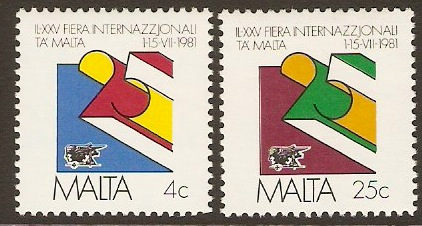 Malta 1981 Trade Fair Stamps. SG661-SG662.