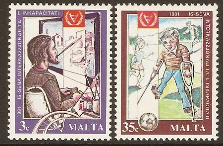 Malta 1981 Disabled Year Stamps. SG663-SG664.