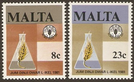 Malta 1981 Food Day Set. SG665-SG666.