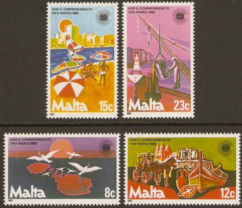 Malta 1983 Commonwealth Day Stamps. SG708-SG711.