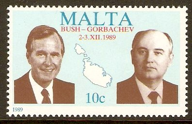 Malta 1989 10c USA-USSR Summit Stamp. SG863.