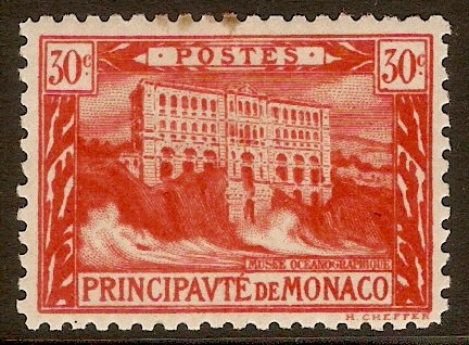 Monaco 1922 2f Vermilion - Views series. SG61a.