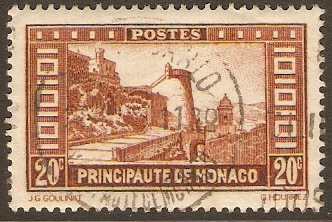 Monaco 1933 20c Yellow-brown. SG123.